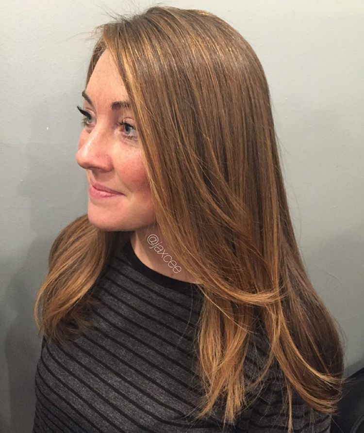 """jaxcee on Instagram: """"GOLDEN TOUCH""""balayage highlights blonde hair ..."""