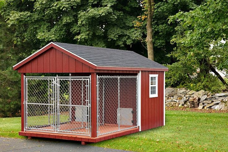 8 X14 Double Dog Kennel From Backyard Unlimited With 2 4 X6