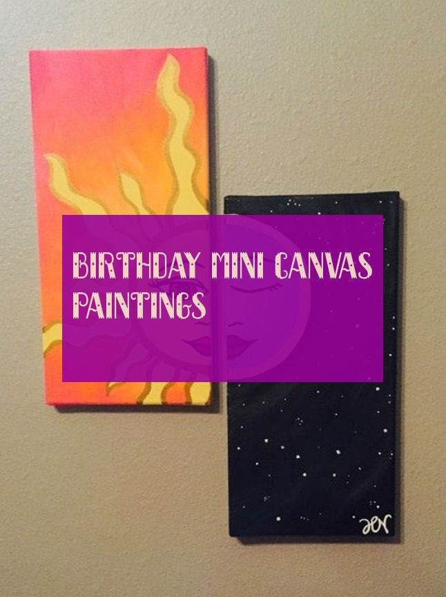 Birthday mini canvas paintings