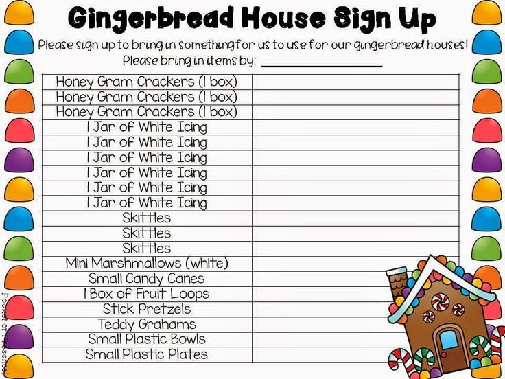 Gingerbread How to Make Milk Carton Gingerbread Houses parent - how to make a signup sheet