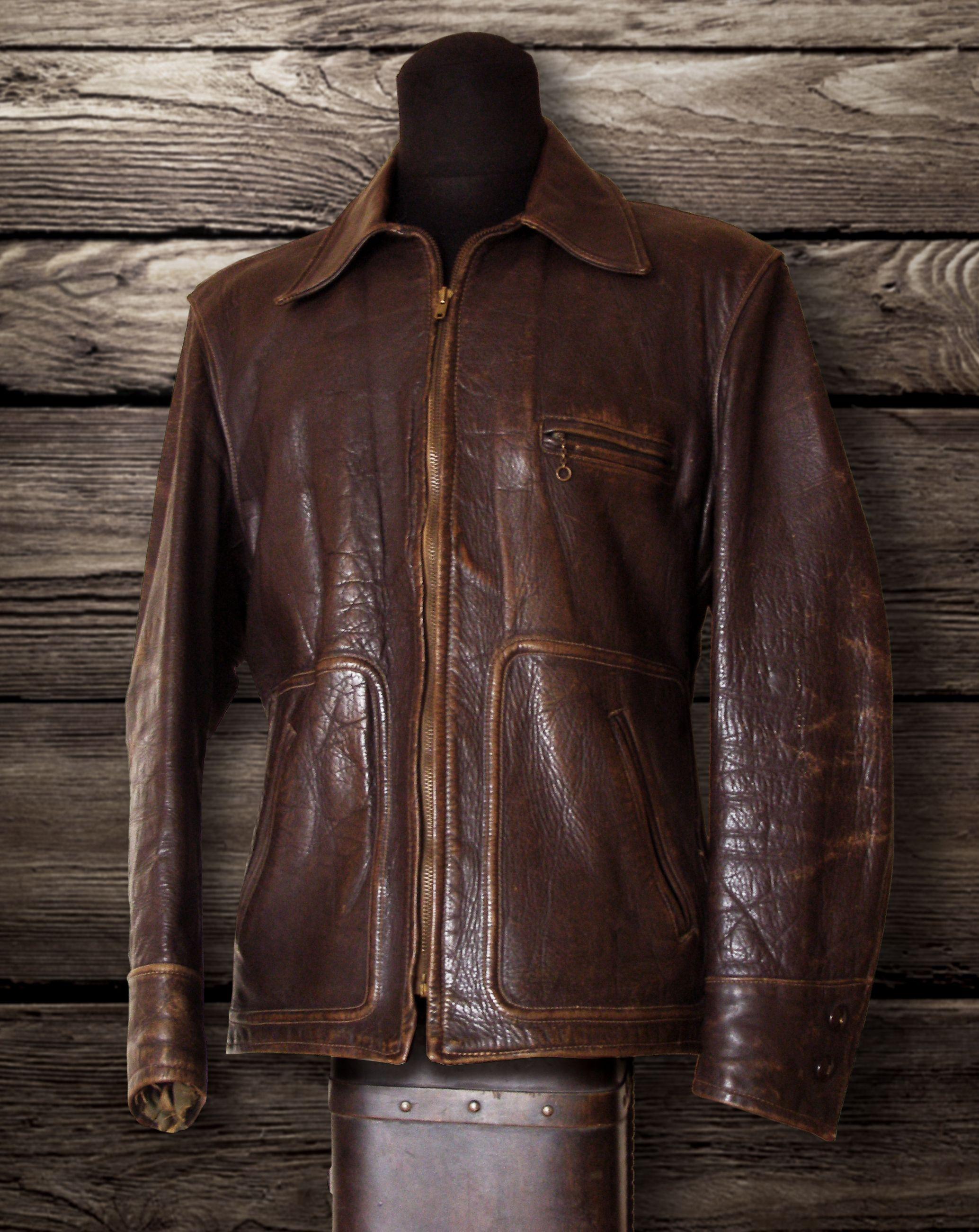 30s Sportclad horsehide jacket Vintage leather jacket