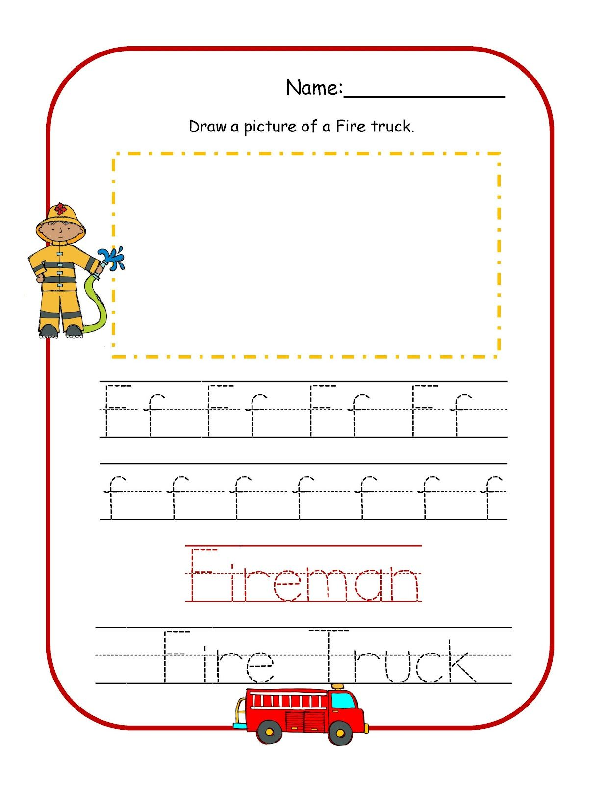 Preschool Printables Fire Safety Worksheets Fire Safety Preschool Community Helpers Preschool [ 1600 x 1236 Pixel ]