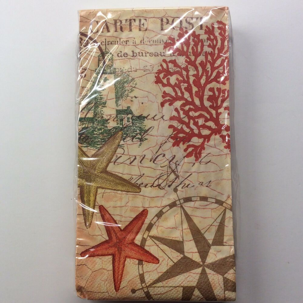 Nautical Icons Guest Paper Towel Napkins 20 Ct 2 Ply Paula Scaletta Starfish 39938357832 Ebay In 2020 Paper Guest Towels Christmas Tree Shop Guest Napkins