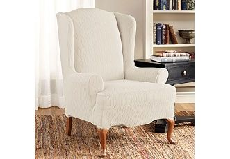 Stretch Links Wing Chair Slipcove