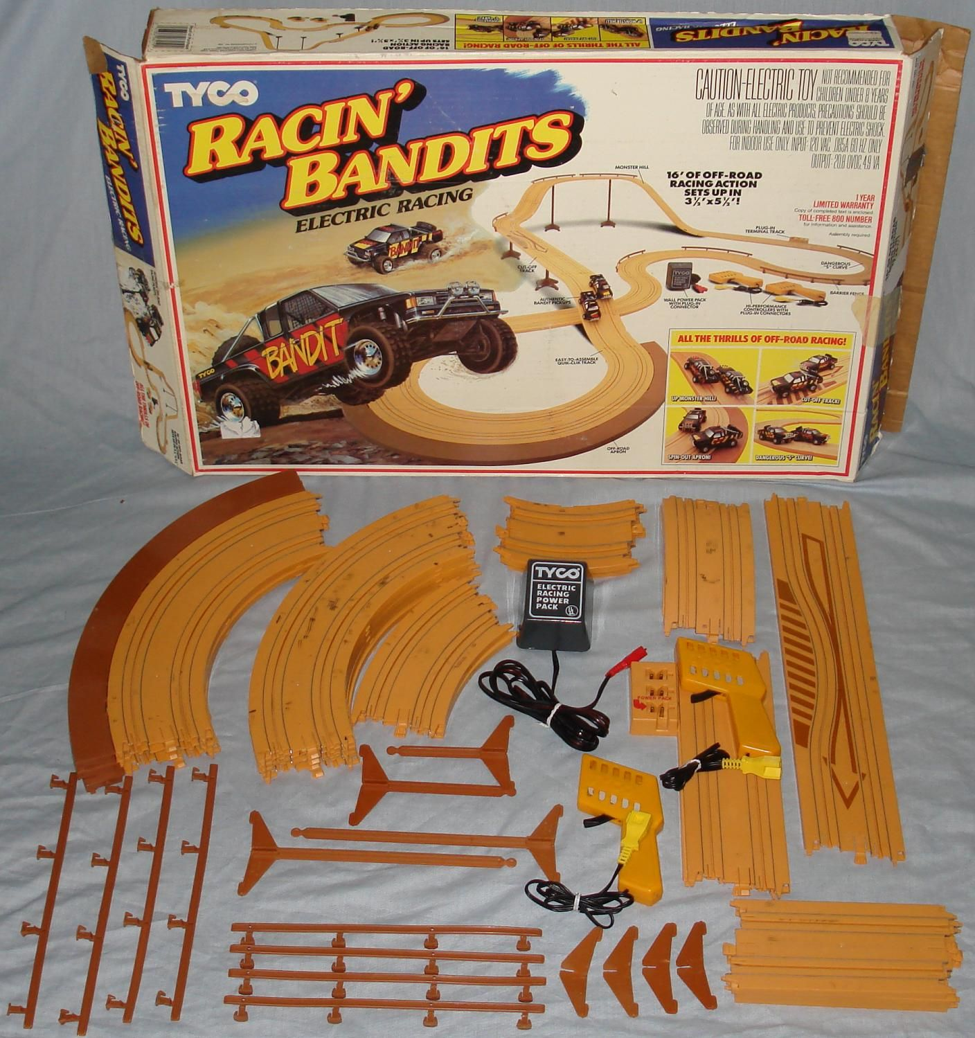 tyco racin bandits electric racing toy