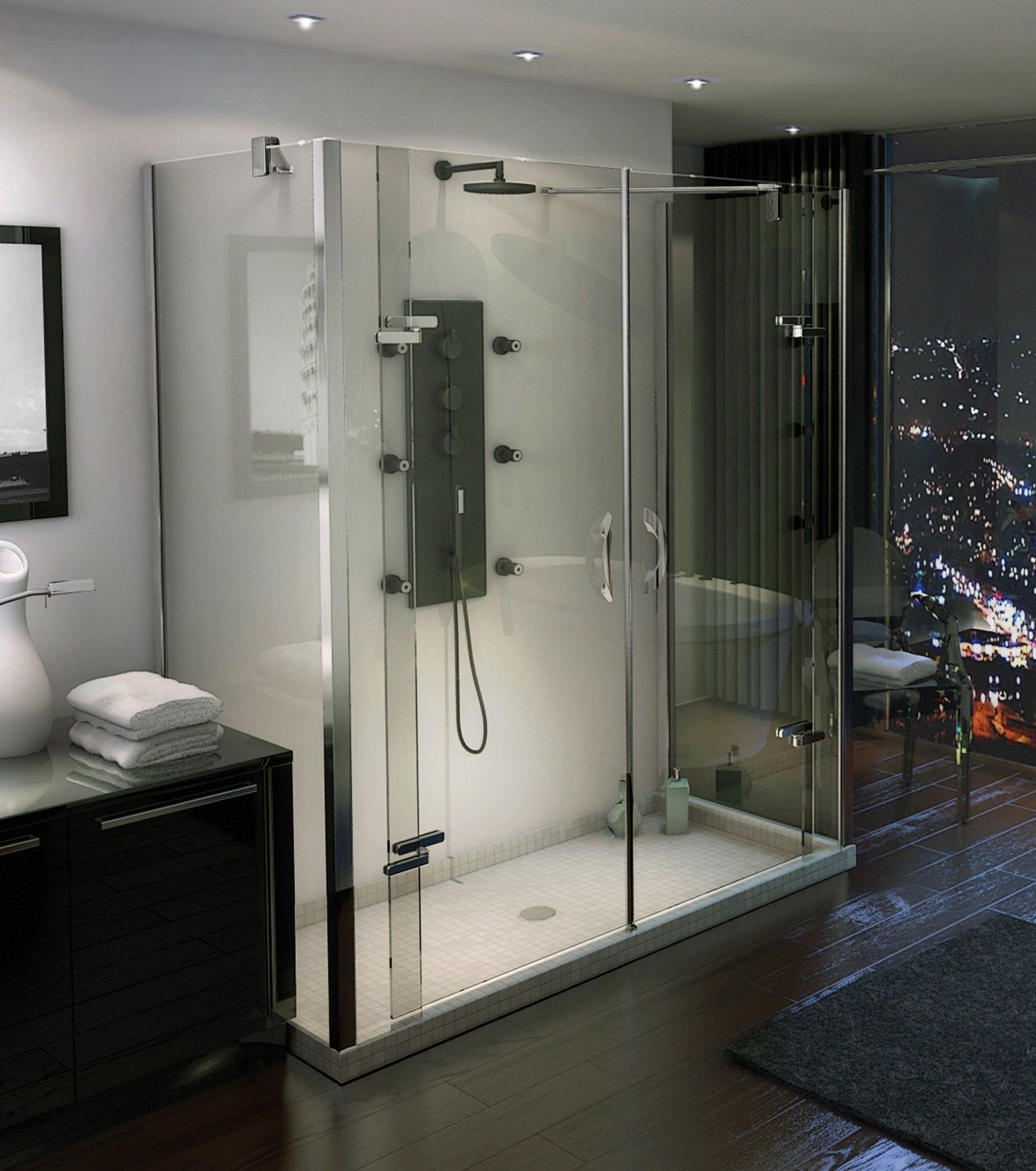 MAAX - Purfect Dual Wall-Mounted Shower Door www.maax.com | Showers ...
