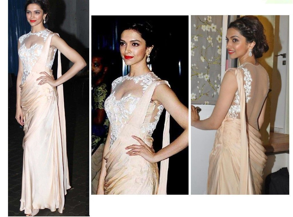 Deepika Padukone In Exclusive Saree | Deepika padukone, Saree and ...