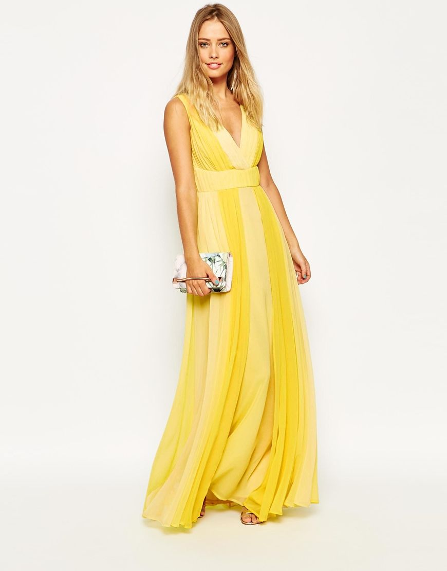 Maxi yellow dress
