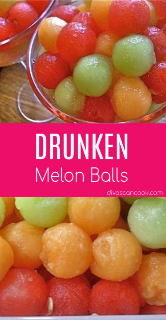 Drunken Melon Balls...Aaaahhh Summer Is Here #melonrecipes