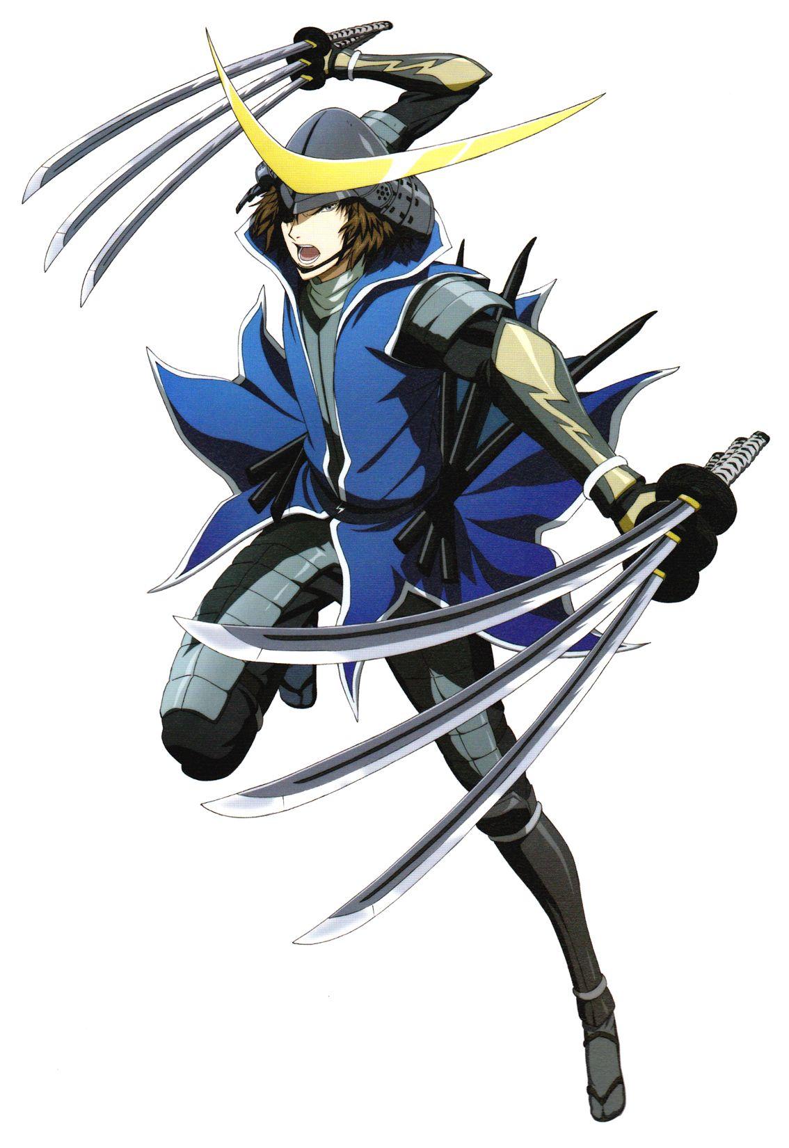 Masamune Date six sword technique!!!! Seni anime