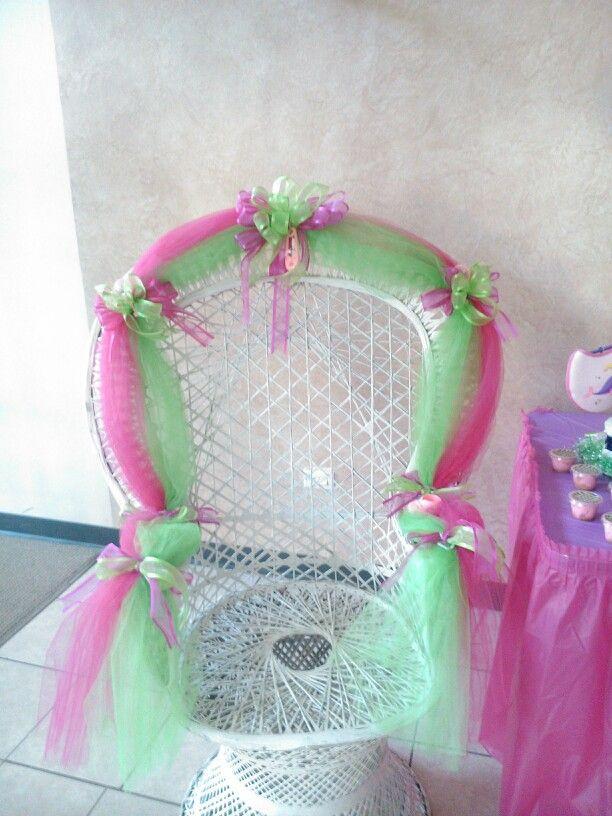 Baby Shower Decorations · Silla Para La Festejada