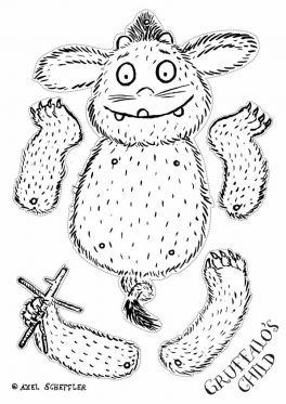 the gruffalos child jumping jack page sprout coloring pages for kids sprout - Gruffalo Colouring Pages To Print