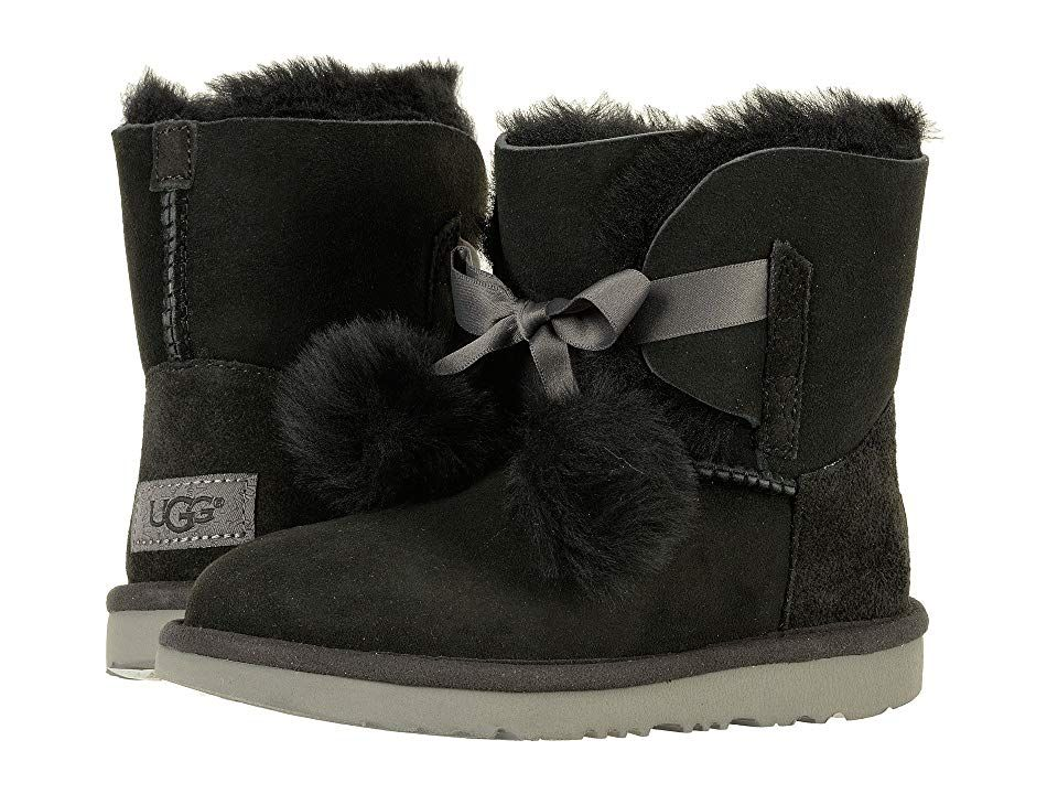 UGG Kids Gita (Little KidBig Kid) (Black) Girls Shoes