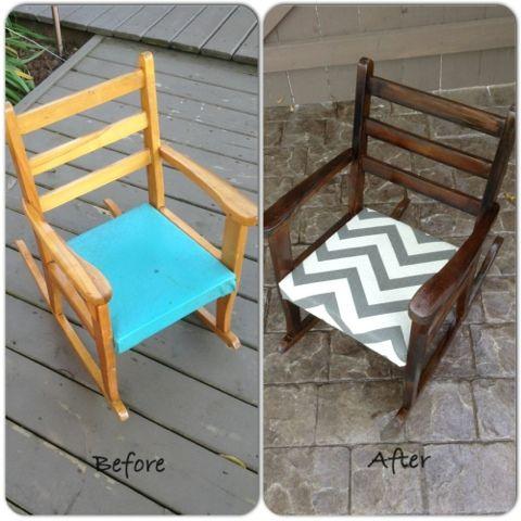 Diy Rocking Chair Diy Rocking Chair Kids Chair Makeover Kids Rocking Chair