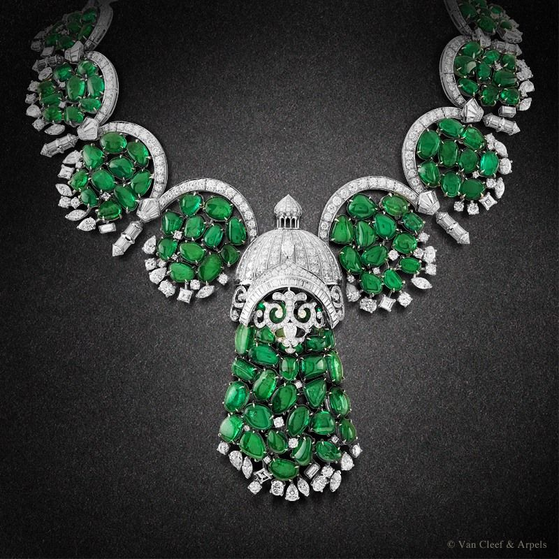 Van Cleef & Arpels hosts 'In Praise of Hands' exhibition - on view at Design Days Dubai through March 21 - showcases unique High Jewelry pieces such as the Arcata necklace from the Bals de Légende High Jewelry collection
