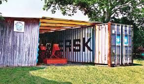 Shipping Container Used To Create This Diy Shed For Work And Storage Container House Creative Storage Solutions Shipping Container