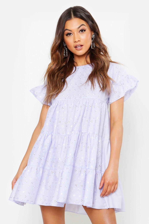 Eyelet Smock Dress Boohoo Dresses Bodycon Fashion Smock Dress [ 1500 x 1000 Pixel ]