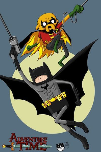 Adventure time batman mashup lego minifigures temps d 39 aventure dessin anim et truc marrant - Superman et batman dessin anime ...