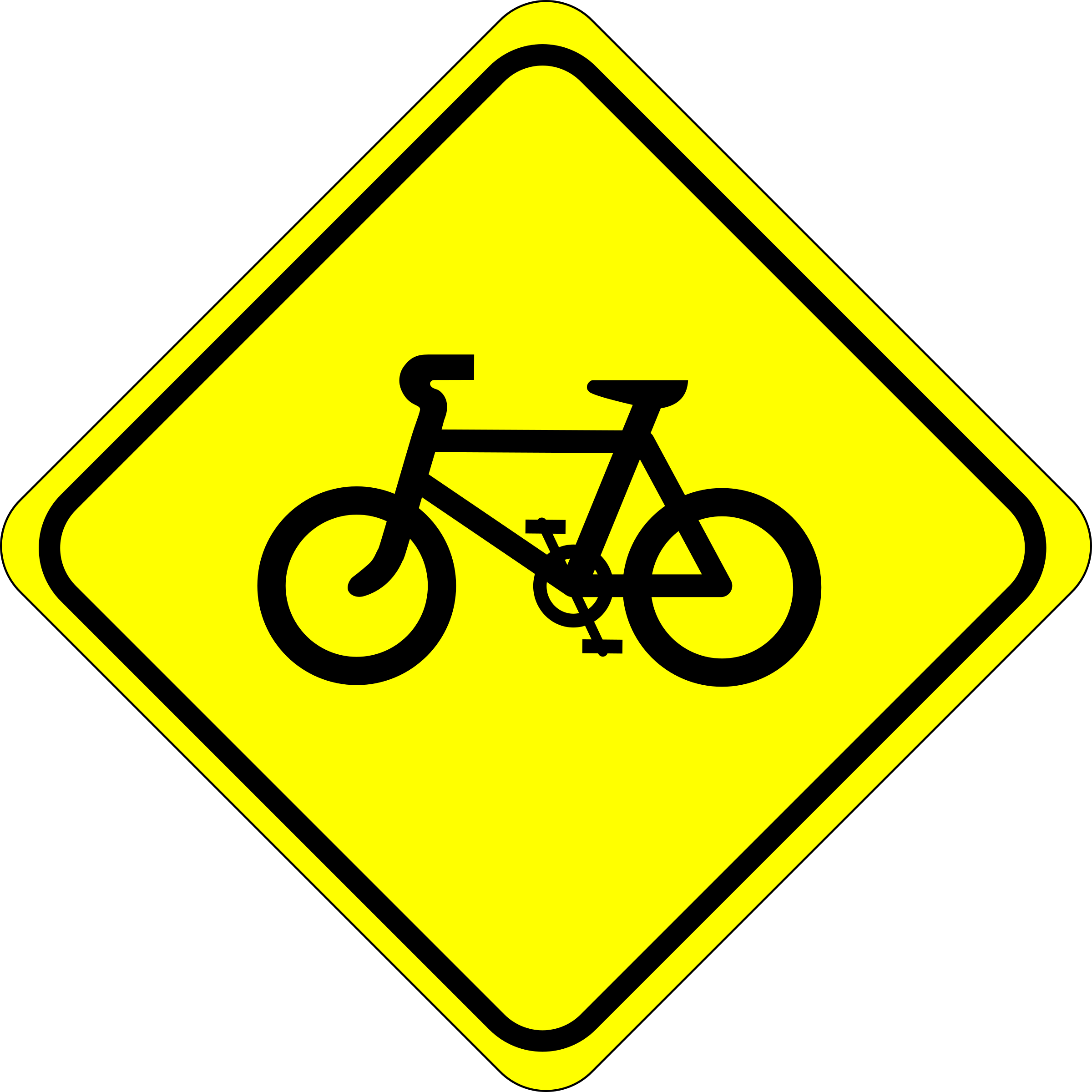 Roadsign watch for bicycles (With images) Bicycle sign