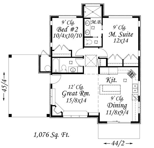 Plan 85026MS Contemporary Getaway Smallest house Small house