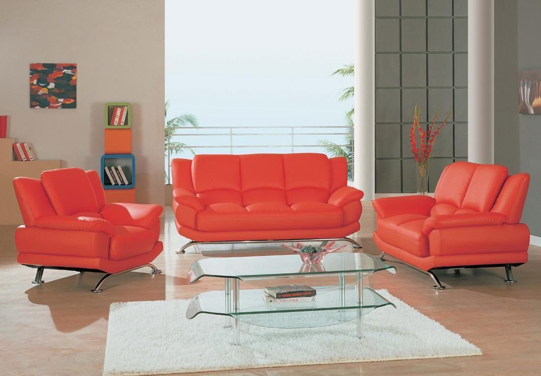 Giving Design To Contemporary Red Leather Sofa Set With Images Leather Living Room Furniture Living Room Sets Living Room Leather