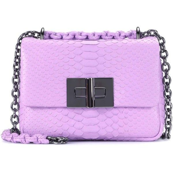 Tom Ford Natalia Small Snakeskin Shoulder Bag ($2,385) ❤ liked on Polyvore featuring bags, handbags, shoulder bags, crossbody bags, purple, tom ford purse, snake skin purse, crossbody shoulder bag, purple purse and tom ford crossbody