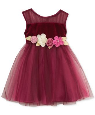 Rare Editions Baby Girls' Tulle Party Dress | macys.com | Fashion ...