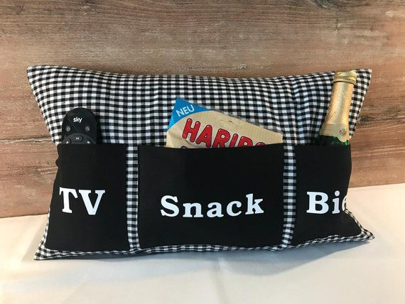 Photo of Father's Day pillow (TV/snack/beer)