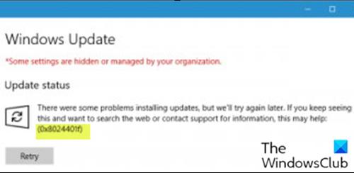 0x8024401f 0x8024402f Antivirus Program Windows Defender Proxy Server