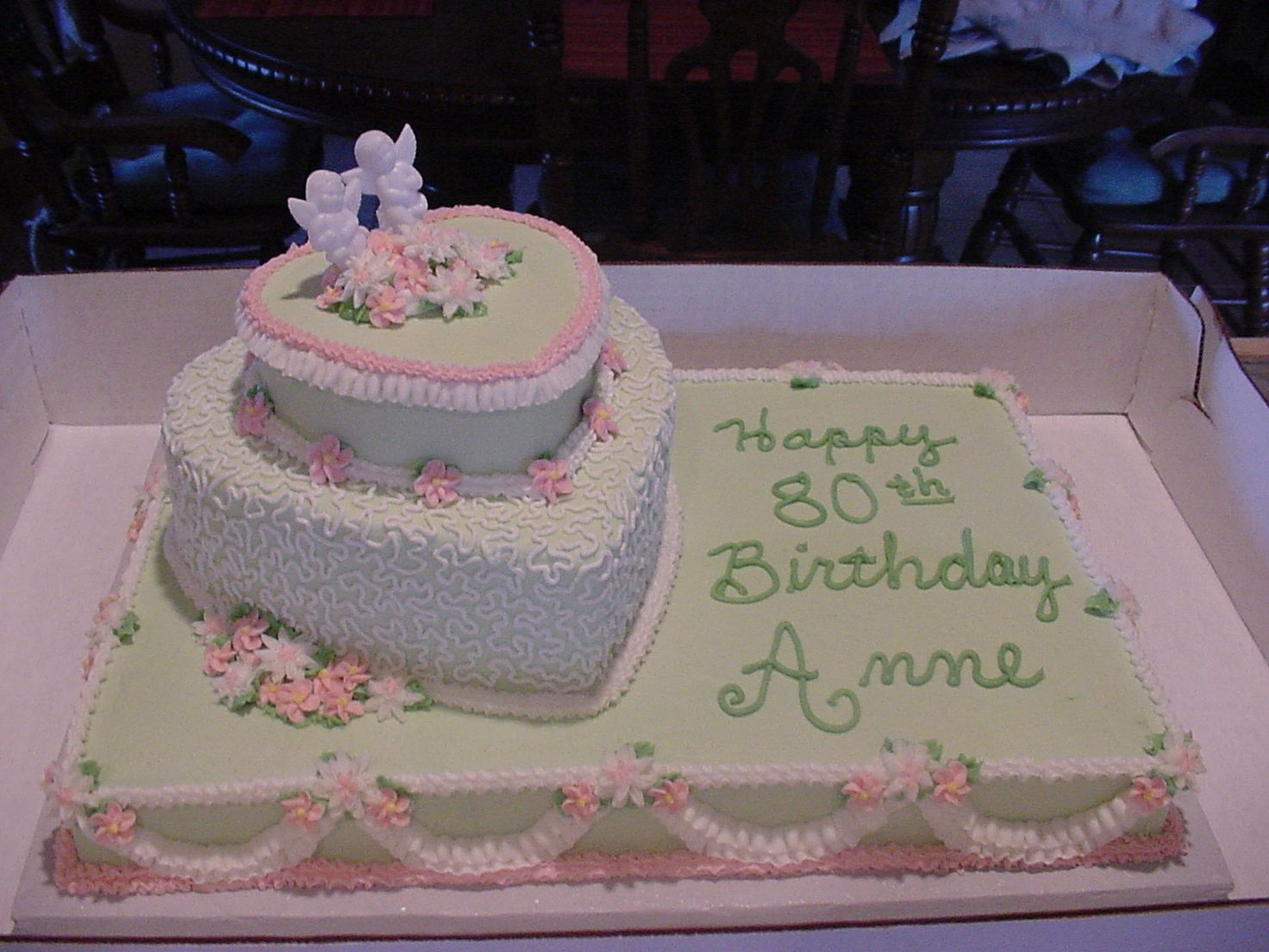 Elegant 80th Birthday Cake With Images 80 Birthday Cake
