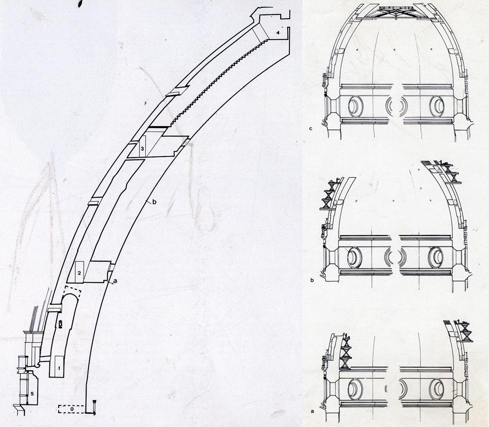 segments of the Dome of Santa Maria del Fiore. 1420-36
