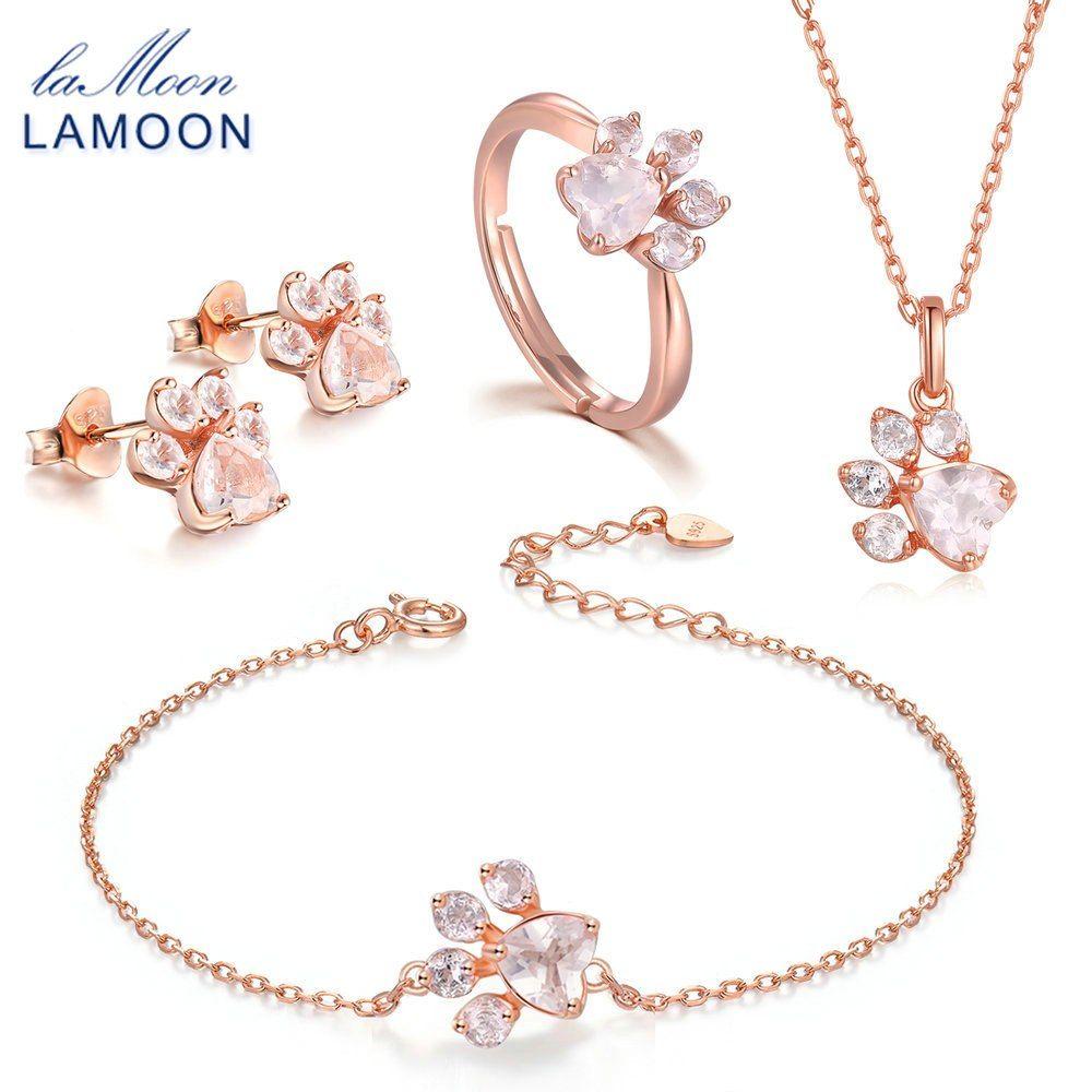 9834afe59843 Купить LAMOON 100% 925 стерлингового серебра 3 шт. Медвежья лапа ...