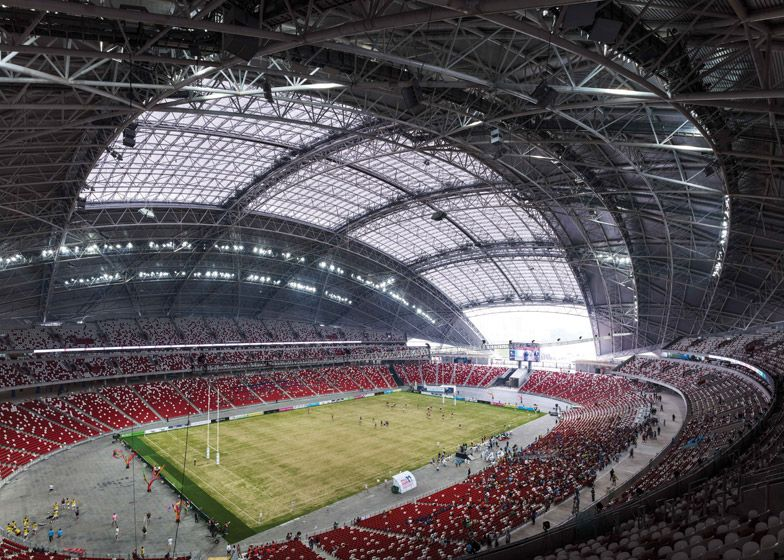 Singapore S National Sports Stadium Lays Claim To The World S Largest Free Spanning Dome Measuring 310 Metres Across National Stadium Singapore Stadium