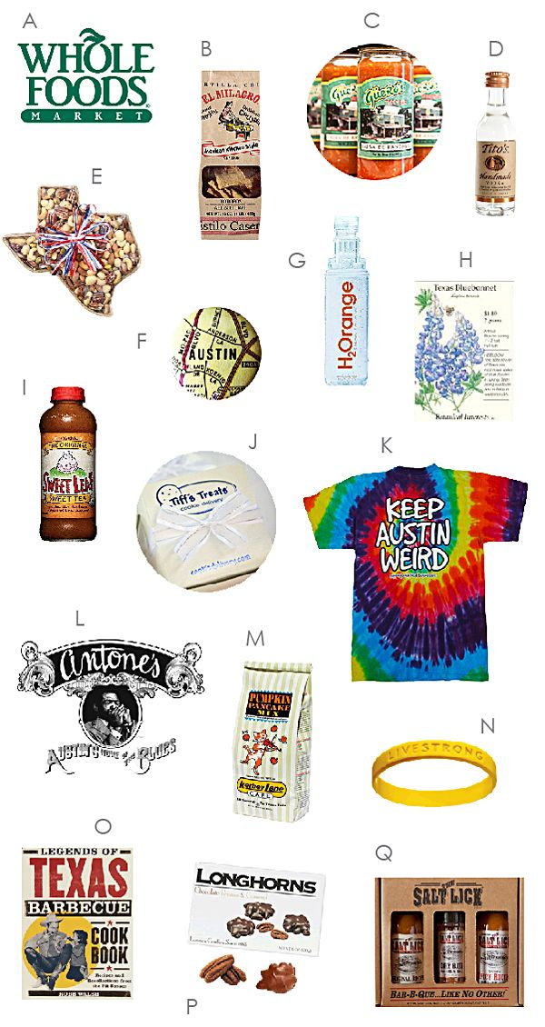 What to put in your Austin Texas bag Texas gifts