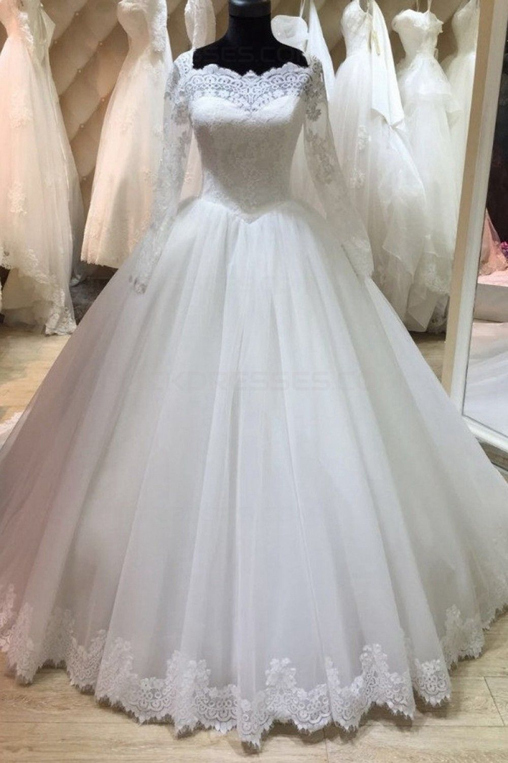 Long sleeves lace wedding dresses bridal gowns dresses