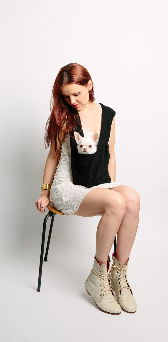 Puppy Pocket Scarf Dog Sling Pet Carrier by HeartPup @Alana Stiles  - you need this!