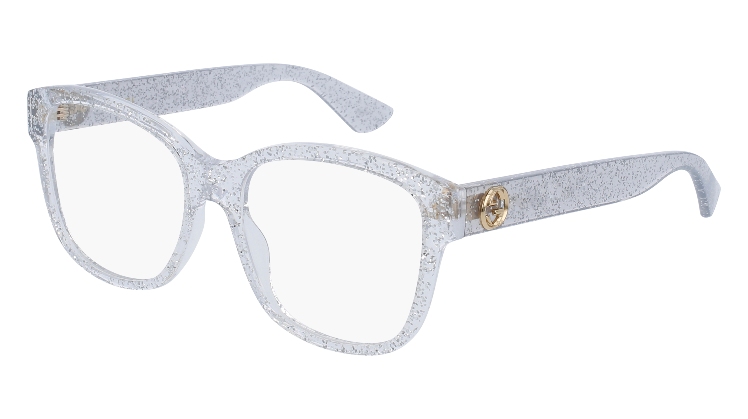 ace92d5e95c Gucci GG0038O 006 54 Shiny Glitter Silver Transparent Rectangle Square   sunglasses  glasses  fashion