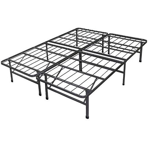 Spa Sensations Steel Smart Base Bed Frame Black No Box Springs Required Tall
