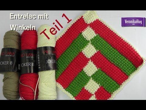 Meine Topflappen Kollektion: Topflappen häkeln viereckig - YouTube ...