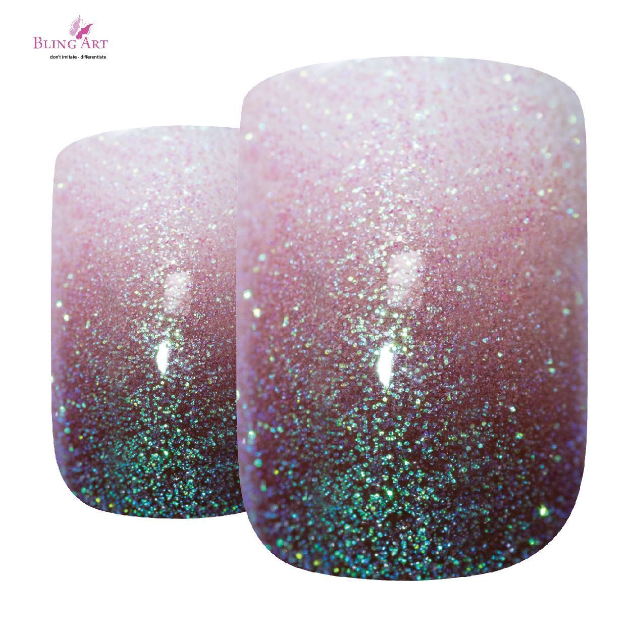 Christmas False Nails Uk: False Nails By Bling Art Red Brown Gel Ombre French