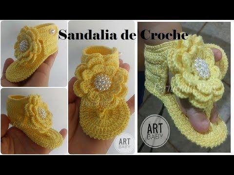 Sandalia de Croche Ana Júlia Profª Fernanda Reis YouTube