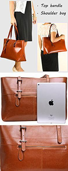 Warehouse Handbags. Iswee Leather Shoulder bags Tote Top Handle Handbags  and Purses Satchel for Women Large Capacity (Black). 40d5d6d8e8d69