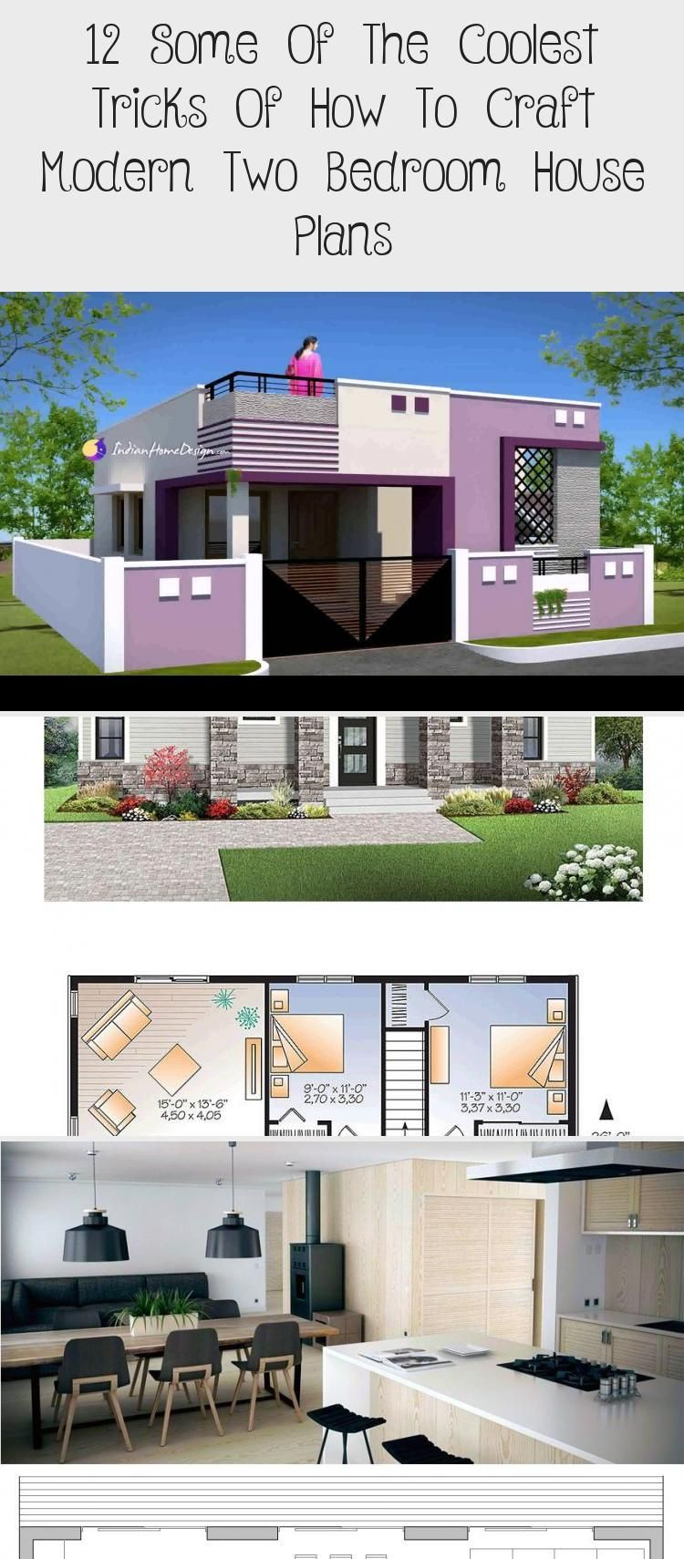 12 Some Of The Coolest Tricks Of How To Craft Modern Two Bedroom House Plans Smallhouseplanswithpool Smallhous In 2020 Two Bedroom House House Plans Pool House Plans
