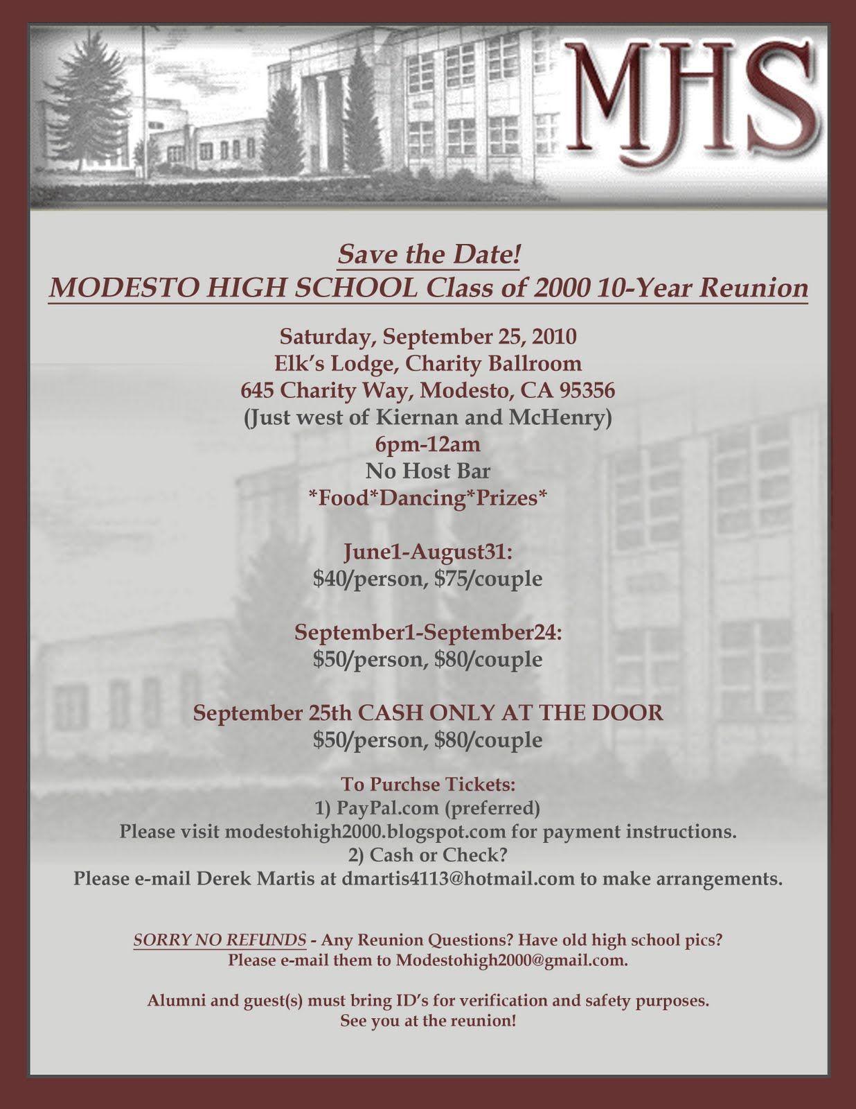 High School Reunion Invitation Wording Class Reunion School