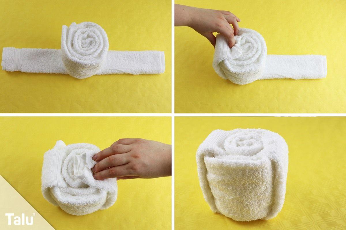 handtuch falten rolle