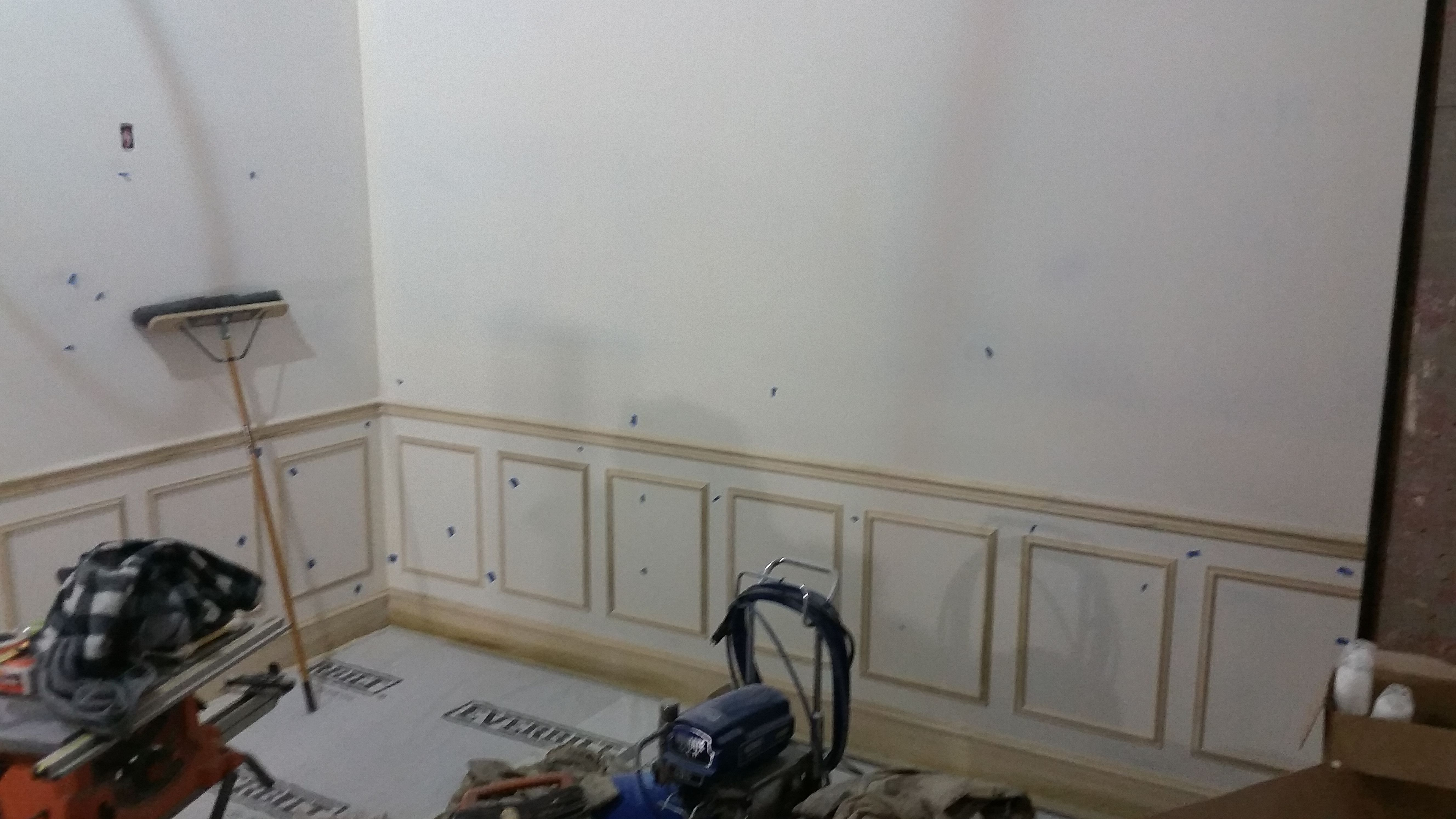 When using a high gloss paint on walls, trims, paneling