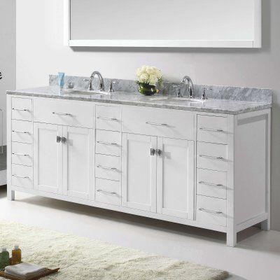Virtu Caroline Parkway 78 In Double Bathroom Vanity Cabinet Md