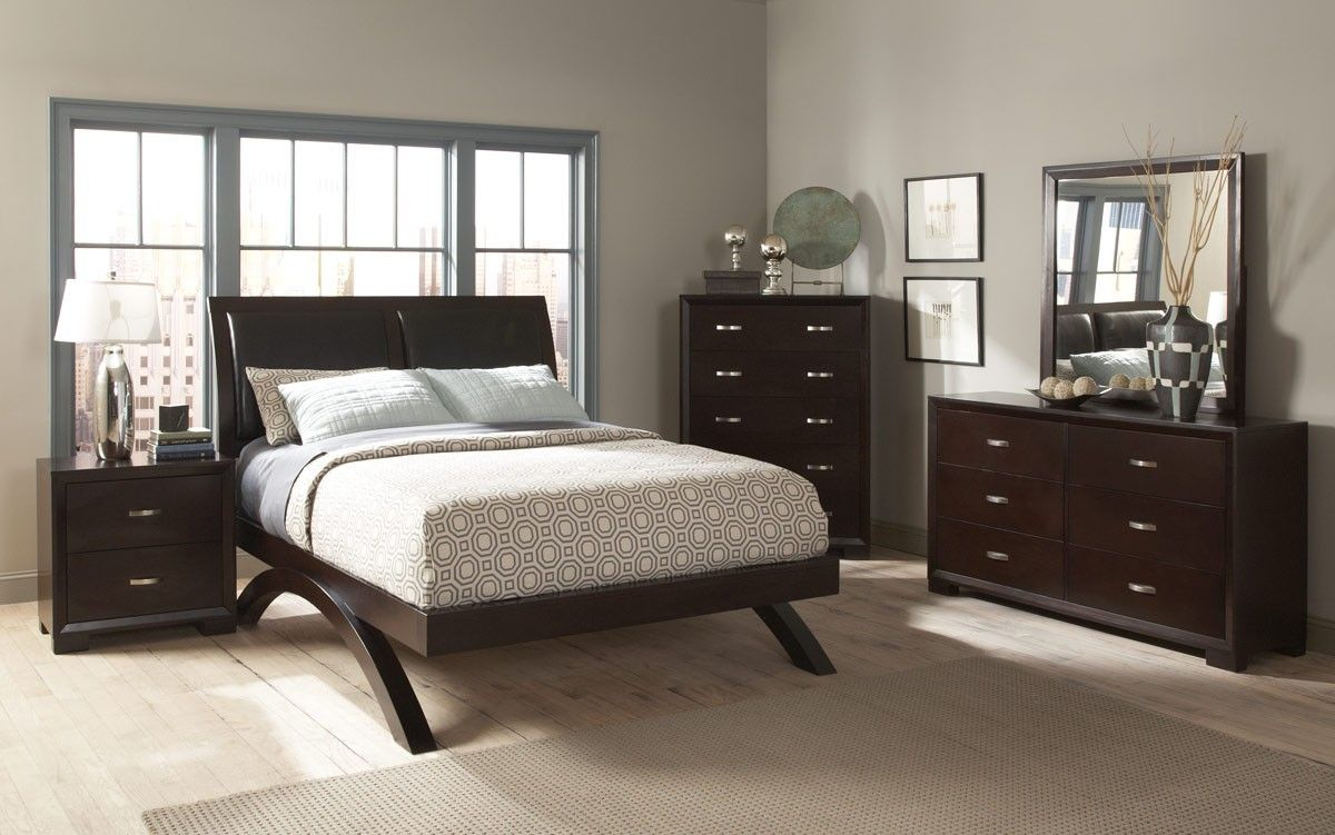 Astrid Contemporary Bedroom Platform Bed 1313-1 by Homelegance ...