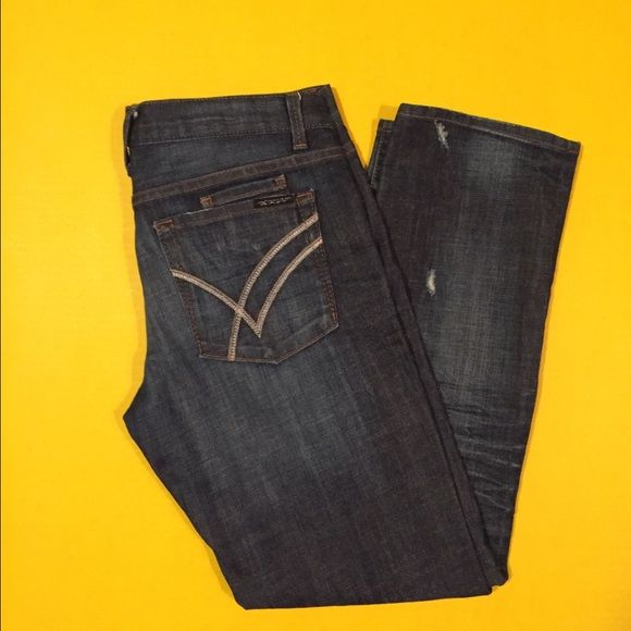 William Rast jeans William Rast jeans, size 27, like new condition, straight leg, no flaws at all, distressed, bundle to save ❤️ inseam approx 30' William Rast Jeans Straight Leg