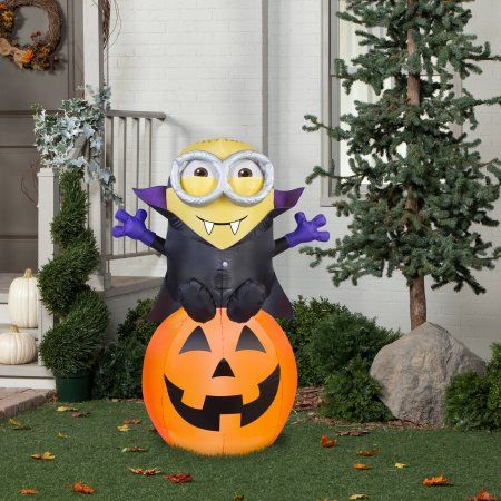Minions Vampire Bob Inflatable Halloween Decoration Giveaway - halloween inflatable decorations